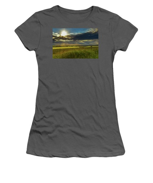 Southern Alberta Crop Land Women's T-Shirt (Athletic Fit)