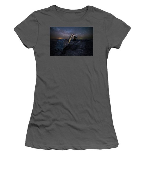Women's T-Shirt (Junior Cut) featuring the photograph Space Excavator  by Aaron J Groen