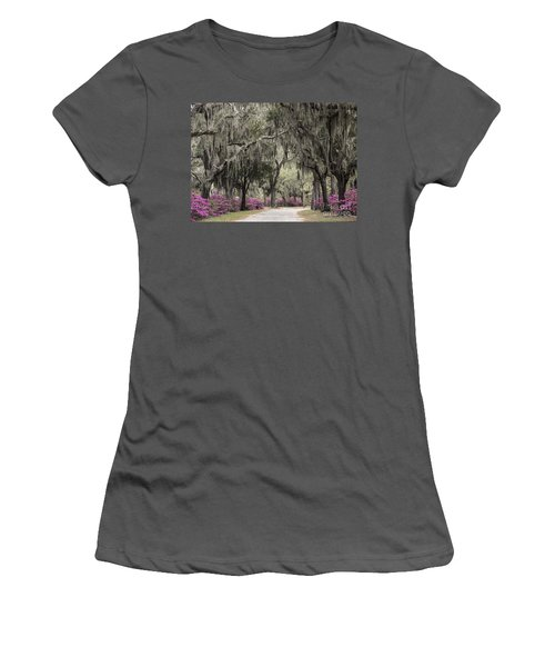 Spanish Moss And Azalea Bushes Women's T-Shirt (Athletic Fit)