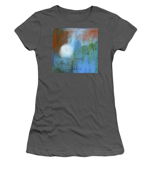 Women's T-Shirt (Junior Cut) featuring the painting Sparkling Sun-rays by Michal Mitak Mahgerefteh