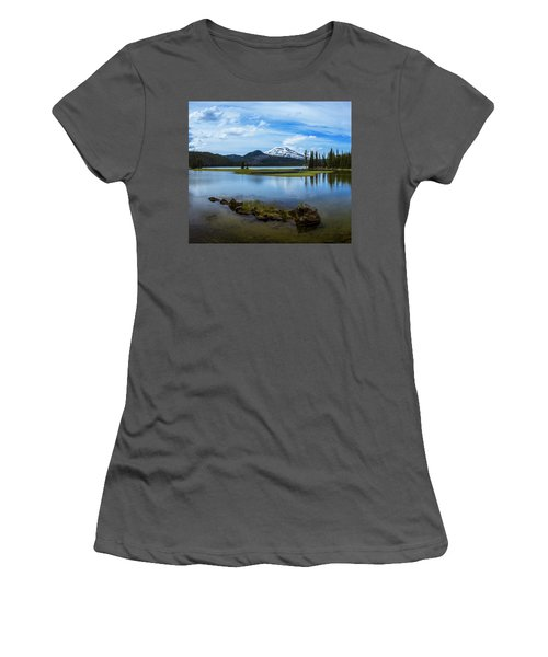 Sparks Lake, Oregon Women's T-Shirt (Athletic Fit)