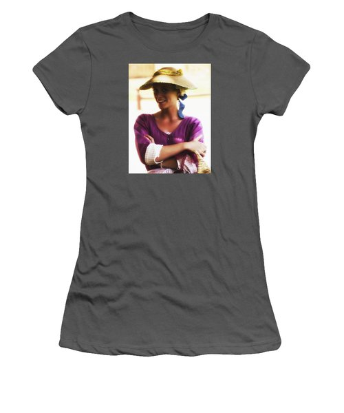Women's T-Shirt (Junior Cut) featuring the photograph Speaking With Her Eyes  ... by Chuck Caramella