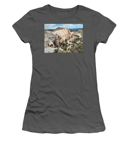 Spectacular Slot Canyon Trail View-at-the-top Women's T-Shirt (Junior Cut) by Cindy Croal