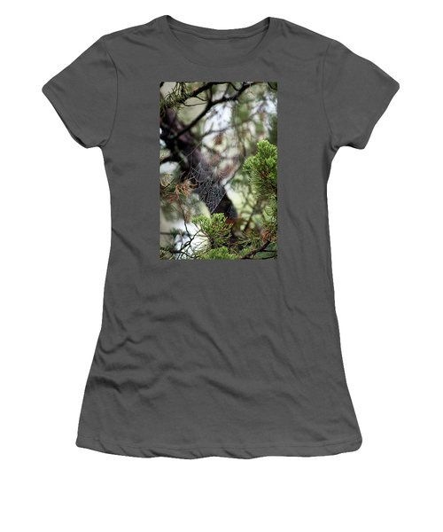 Spider Web In Tree Women's T-Shirt (Athletic Fit)