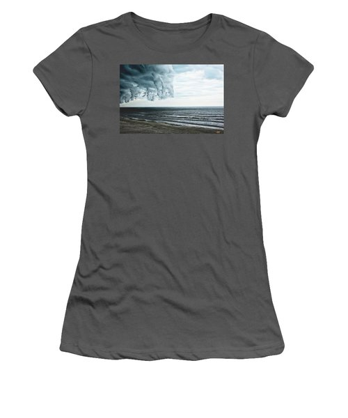 Spiraling Storm Clouds Over Daytona Beach, Florida Women's T-Shirt (Athletic Fit)