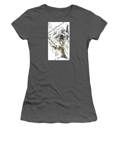 Spirit Animal . Bear Women's T-Shirt (Junior Cut) by John Jr Gholson