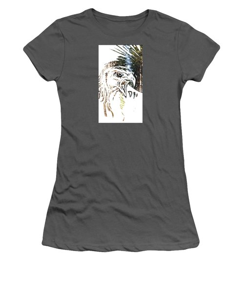 Spirit Animal . Hawk Women's T-Shirt (Junior Cut) by John Jr Gholson