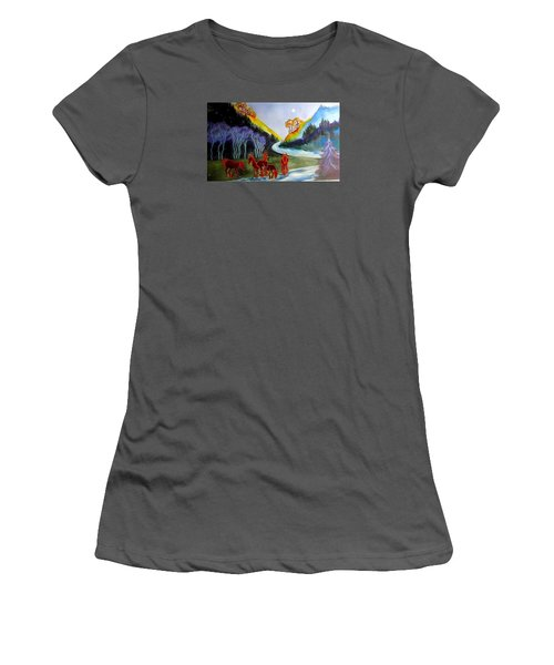 Spirit Horses Women's T-Shirt (Athletic Fit)