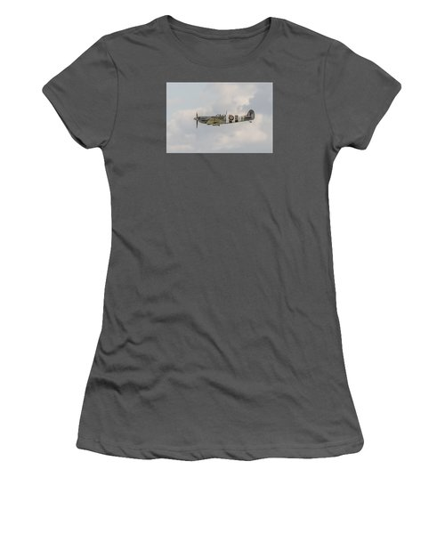 Spitfire Mk Vb Women's T-Shirt (Junior Cut) by Gary Eason