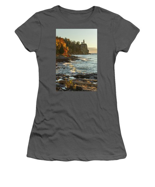 Split Rock Lighthouse At Sunrose Women's T-Shirt (Athletic Fit)
