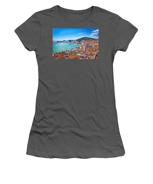 Split Waterfront And Marjan Hill View Women's T-Shirt (Athletic Fit)