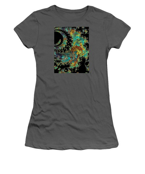 Sprial Galaxy I I Women's T-Shirt (Athletic Fit)