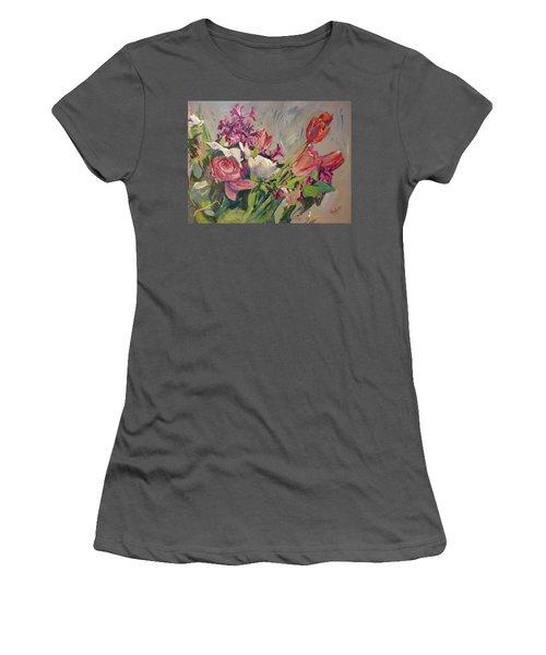 Spring Flowers Bouquet Women's T-Shirt (Athletic Fit)