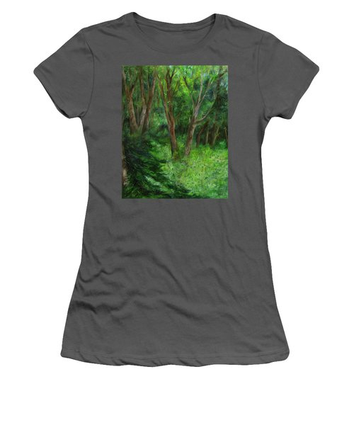 Spring In The Forest Women's T-Shirt (Athletic Fit)