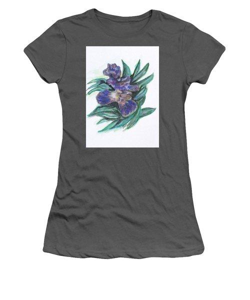 Spring Iris Bloom Women's T-Shirt (Junior Cut) by Clyde J Kell