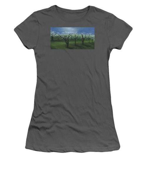 Spring Orchard Women's T-Shirt (Athletic Fit)