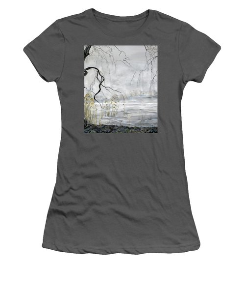 Spring Thaw On Misty Grenadier Pond Women's T-Shirt (Athletic Fit)