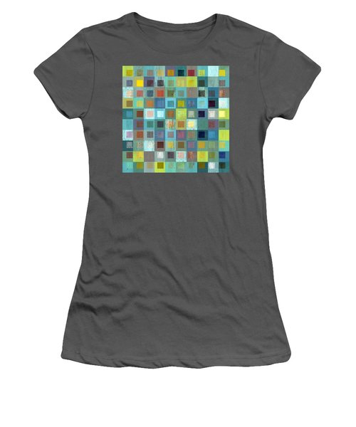 Women's T-Shirt (Junior Cut) featuring the digital art Squares In Squares Two by Michelle Calkins
