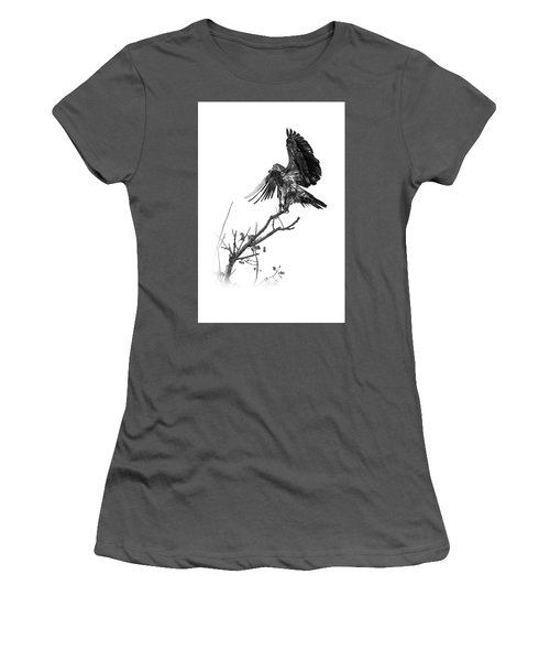 Squaw Creek Red-tail Women's T-Shirt (Athletic Fit)