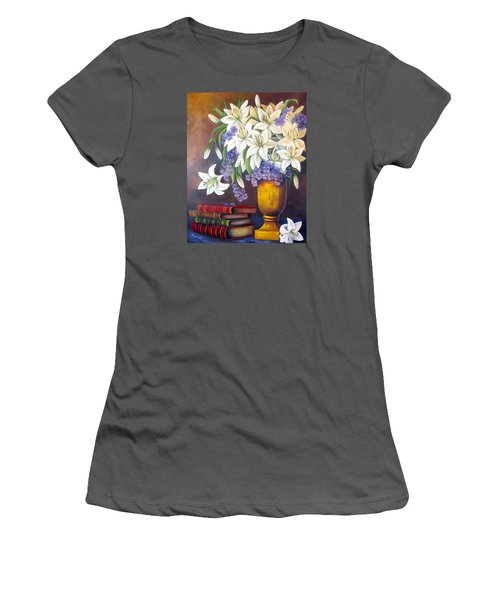 St. Anthony's Lilies Women's T-Shirt (Junior Cut) by Katia Aho