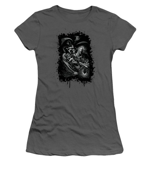 St. George And Dragon T-shirt Women's T-Shirt (Athletic Fit)