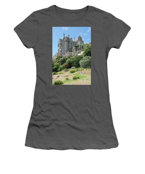 St Michael's Mount Castle II Women's T-Shirt (Junior Cut) by Helen Northcott