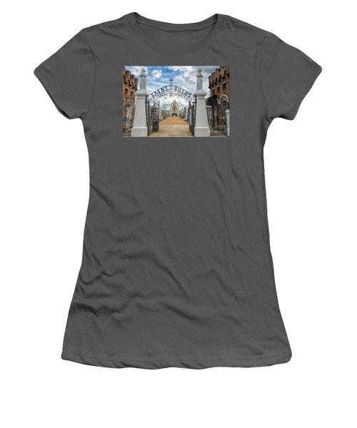 St. Roch's Cemetery In New Orleans, Louisiana Women's T-Shirt (Junior Cut) by Bonnie Barry