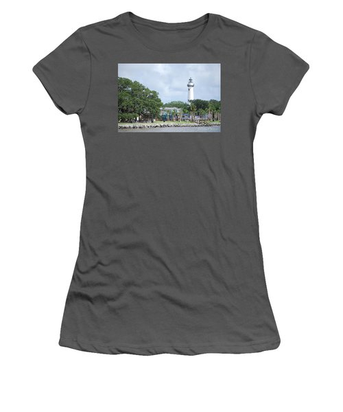 St. Simons Island Light Women's T-Shirt (Athletic Fit)