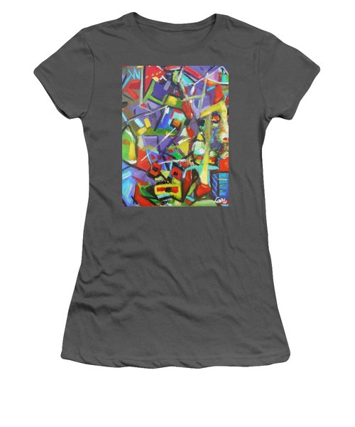 Stained Glass Women's T-Shirt (Athletic Fit)