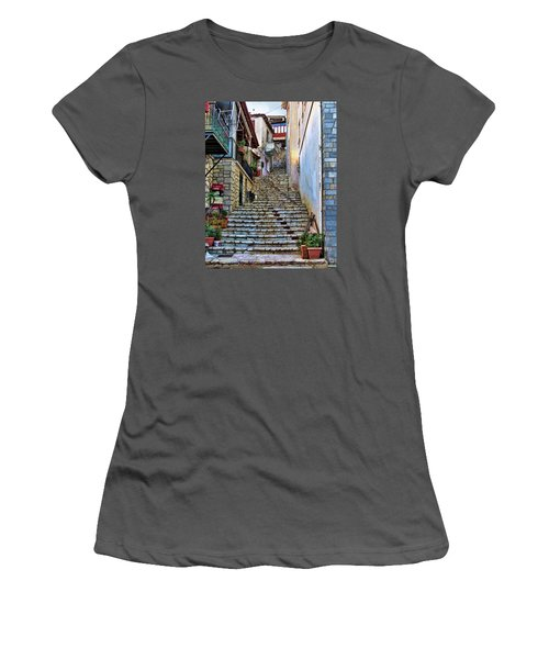 Stairs On Greek Island Women's T-Shirt (Athletic Fit)