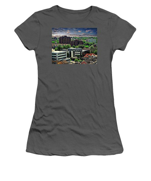 Stamford Cityscape Women's T-Shirt (Junior Cut) by Anthony Dezenzio
