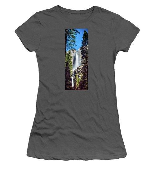 Starry Yosemite Falls Women's T-Shirt (Athletic Fit)