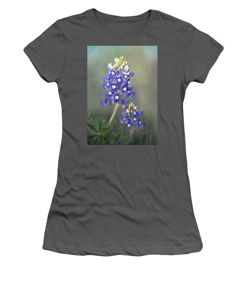 Women's T-Shirt (Junior Cut) featuring the photograph State Flower Of Texas by David and Carol Kelly