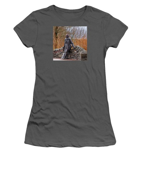 Women's T-Shirt (Junior Cut) featuring the photograph Statue Of Tom Weir by Jeremy Lavender Photography