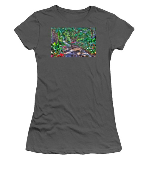 Women's T-Shirt (Junior Cut) featuring the photograph Stay On Your Path by TC Morgan