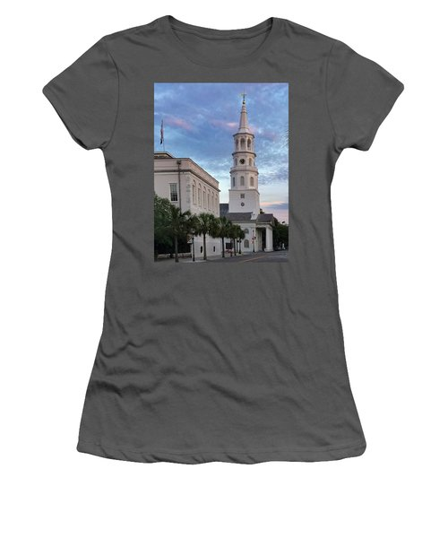 Steeple At Dusk Women's T-Shirt (Athletic Fit)