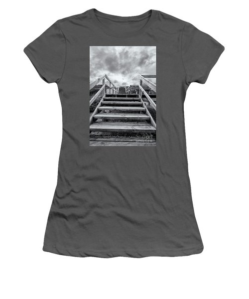 Women's T-Shirt (Athletic Fit) featuring the photograph Step On Up by Linda Lees