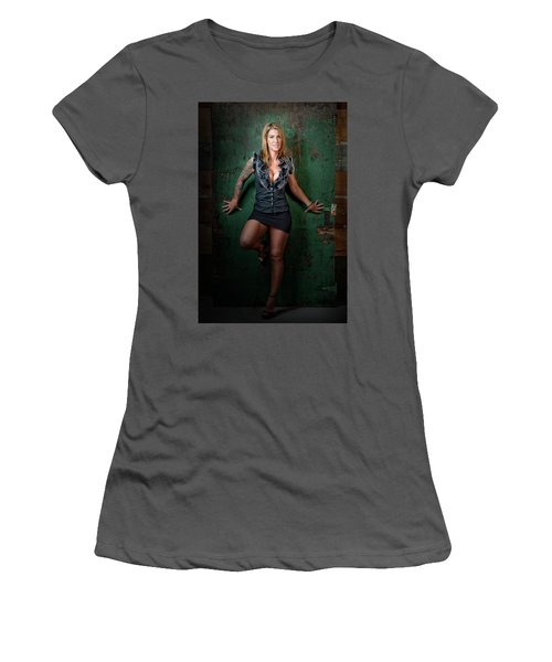 Stephanie Green Door Women's T-Shirt (Athletic Fit)