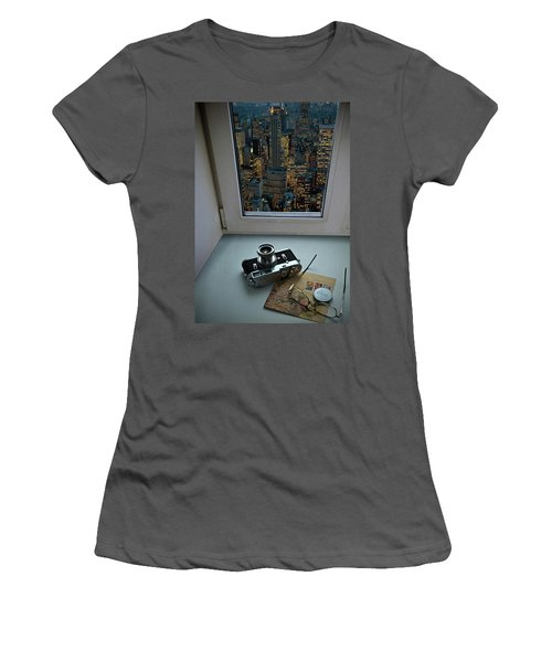 Stilllife With Leica Camera Women's T-Shirt (Athletic Fit)