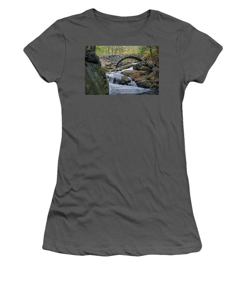 Stone Arch Bridge In Autumn Women's T-Shirt (Athletic Fit)
