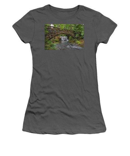 Stone Bridge At Whatcom Falls Park Women's T-Shirt (Athletic Fit)