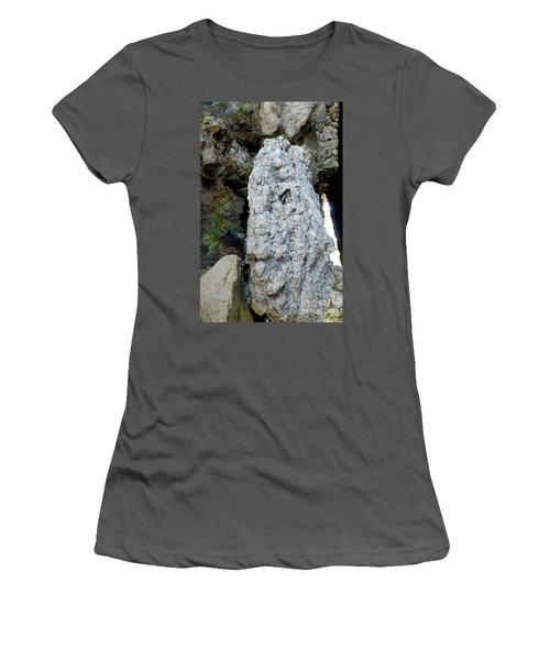 Women's T-Shirt (Athletic Fit) featuring the photograph Stone Over Time by Francesca Mackenney