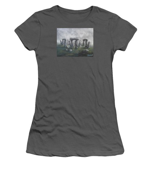Women's T-Shirt (Junior Cut) featuring the painting Stones Of Time  by Megan Walsh