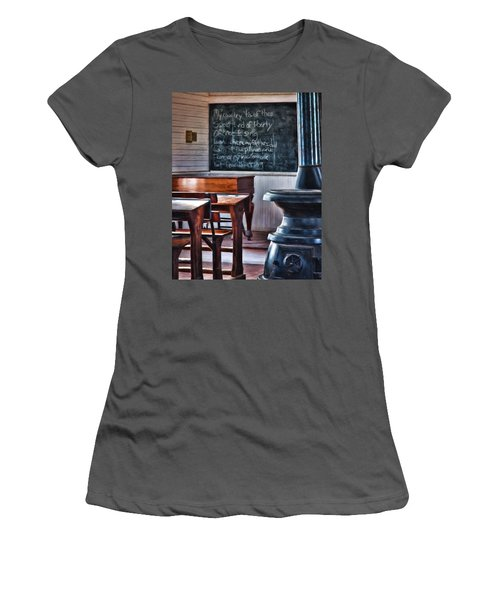 Stoney Point School Room Women's T-Shirt (Junior Cut) by Lana Trussell