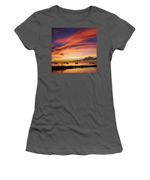 Store Bay, Tobago At Sunset #view Women's T-Shirt (Athletic Fit)