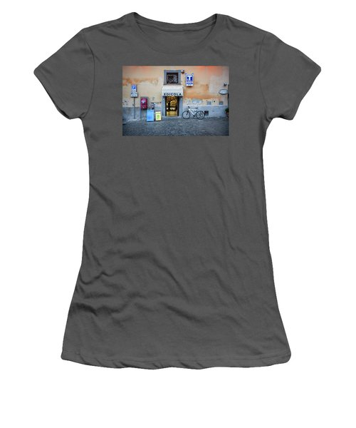 Storefront In Rome Women's T-Shirt (Athletic Fit)