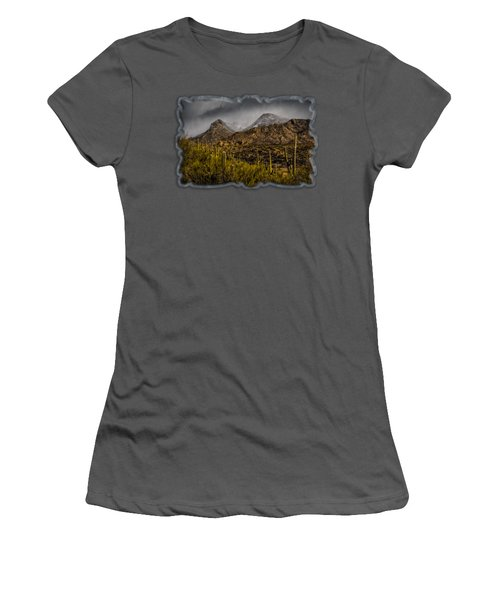 Storm Over Catalinas 15 Women's T-Shirt (Junior Cut) by Mark Myhaver