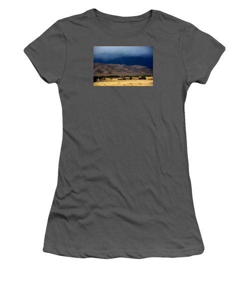 Storm Over The Great Dunes Colorado  Women's T-Shirt (Athletic Fit)