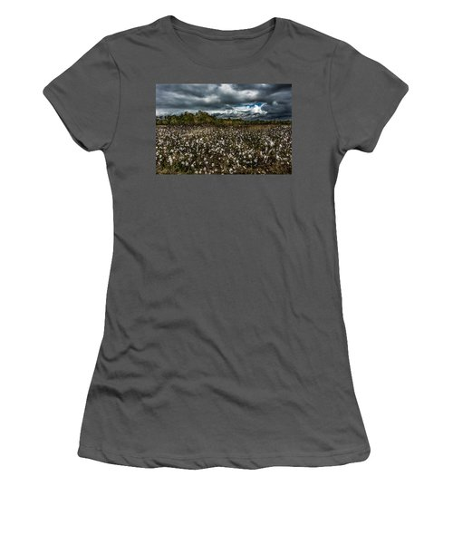 Stormy Cotton Field Women's T-Shirt (Athletic Fit)