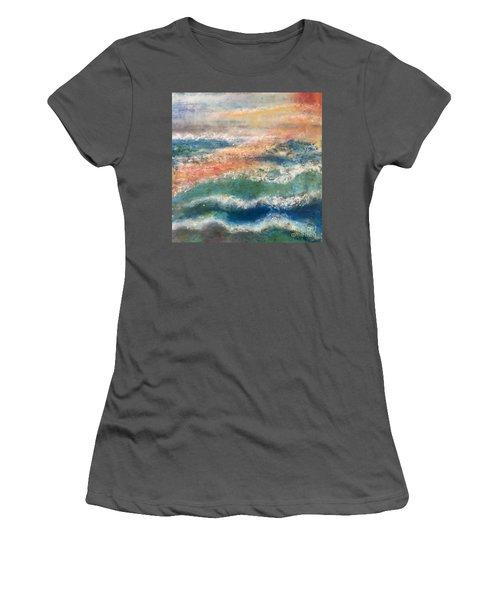 Stormy Seas Women's T-Shirt (Junior Cut) by Kim Nelson